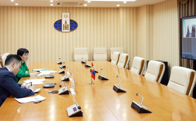 Узбекистан улсын Гадаад хэргийн орлогч сайдтай цахим уулзалт хийв