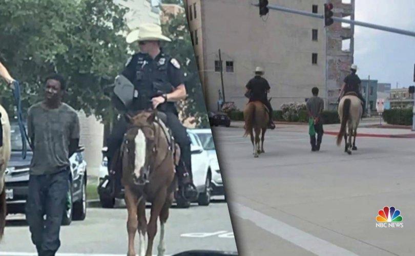 Морьт цагдаад олсоор хөтлүүлсэн хар арьст эр нэг сая доллар нэхэмжилжээ