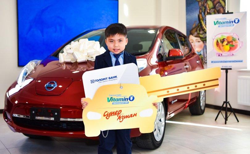 """""""Витамин ₮"""" хөтөлбөр: Супер шагналын эзэн хүү """"Nissan Leaf"""" автомашинаа гардан авлаа"""