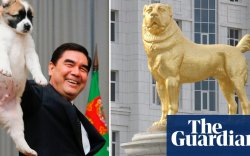 Туркменистаны Ерөнхийлөгч хотын төвдөө хоточ нохойн хөшөө босгов