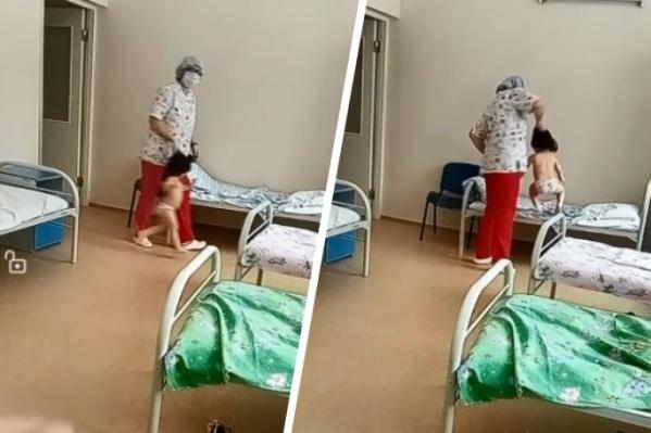 ОХУ: 3 настай хүүхдэд харгис хандсан сувилагчийг шалгаж эхэлжээ