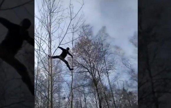 Цахимаар хичээлээ сонсохын тулд модонд авирдаг орос оюутан тусламж хүсэв