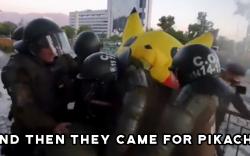 Чилийн цагдаа нар эсэргүү Пикачүг баривчилжээ