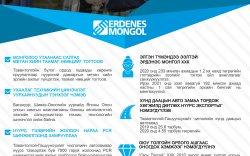 """""""Эрдэнэс Монгол"""" нэгдлийн 2020 онд хийж бүтээсэн ажлаас"""