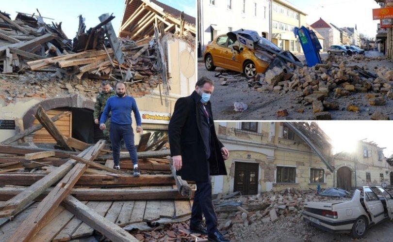 Хорватад хүчтэй газар хөдөлж, долоон хүн нас баржээ