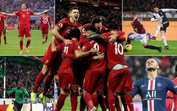 Европын топ таван лигийн эхний хагас өндөрлөлөө