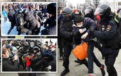АНУ: Орос улс жагсагчдад хэтэрхий харгис хандлаа