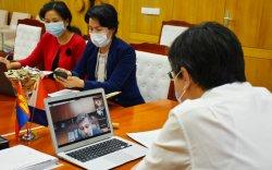 Азийн Хөгжлийн банкны удирдлагуудтай цахим уулзалт хийлээ