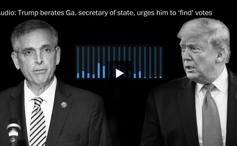 Санал нэмүүлэхийг шаардаж буй Трампын бичлэг ил болов