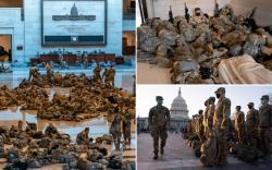 Конгрессийн ордныг Үндэсний Гвардын цэргүүд манаж хонов