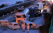 Японд цасан шуурганы улмаас 130 гаруй машин мөргөлджээ