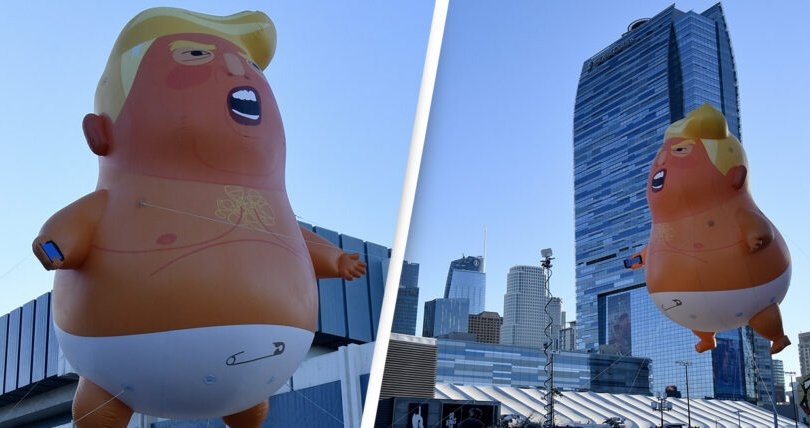 Дональд Трампын дүрстэй агаарын бөмбөлөг музейд тавигдана