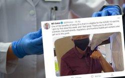 Билл Гейтс Covid-19-ийн вакцин хийлгэжээ