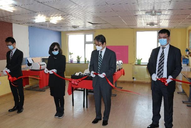 Япон улс Монголын Хараагүйчүүдийн холбоонд брайл хэвлэлийн машин, дэлгэц хандивлалаа