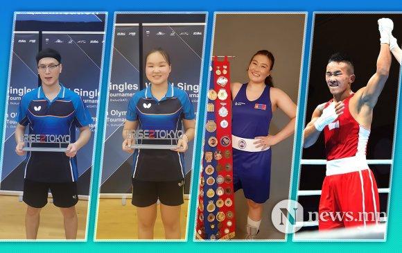 Токиог зорих Монголын олимпийн баг дөрвөн тамирчнаар бүл нэмлээ