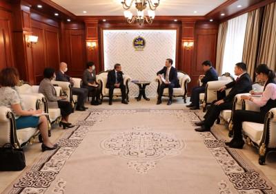 Эрчим хүчний сайд НҮБ-ын төлөөлөгчдийг хүлээн авч уулзав