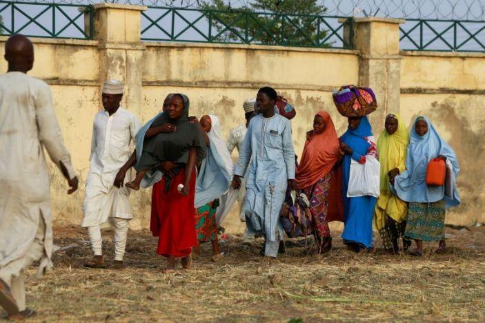 Arrival of the rescued JSS Jangebe schoolgirls in Jangebe