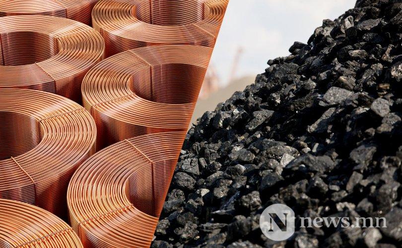 Нүүрс, зэсийн баяжмалын экспорт өсчээ