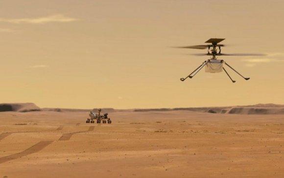 """""""NASA"""" Ангараг дээр анх удаа нисдэг аппарат хөөргөлөө"""