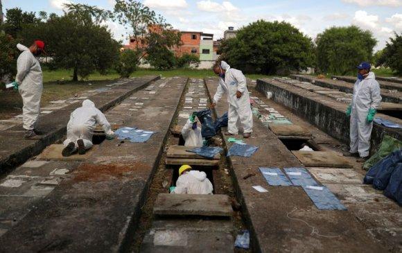 Бразил: Нас барагсдын тоо нэмэгдэж, булшнуудыг шилжүүлж байна