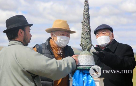 Морьтон Монгол түмний цог хийморийн их шүтээний шав тавих ёслол боллоо