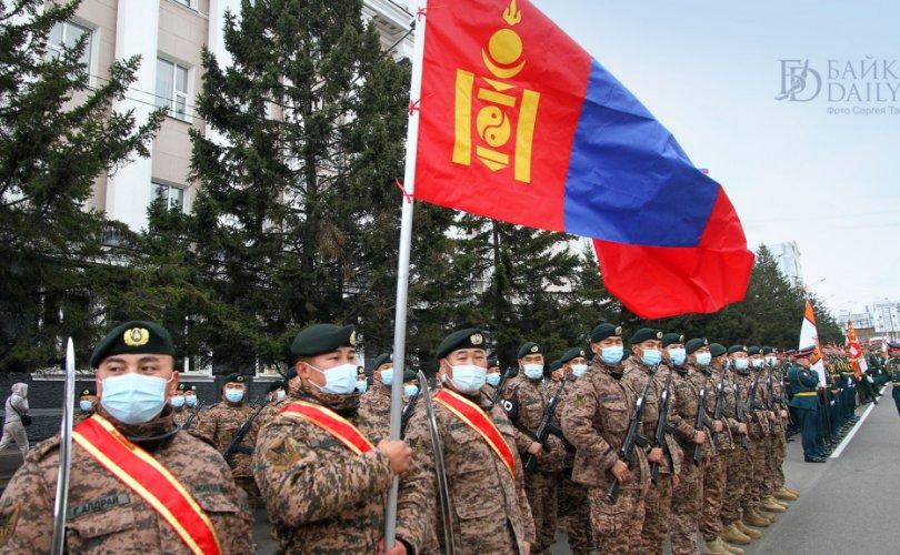 Монгол цэргүүд Ялалтын баярын бэлтгэлд оролцлоо