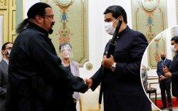 Стивен Сигал Венесуэлд зочилж, Мадурод сэлэм бэлэглэв