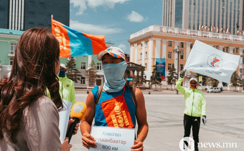 Д.Гантулга Хөвсгөлөөс Улаанбаатар хүртэл 800 км гүйв
