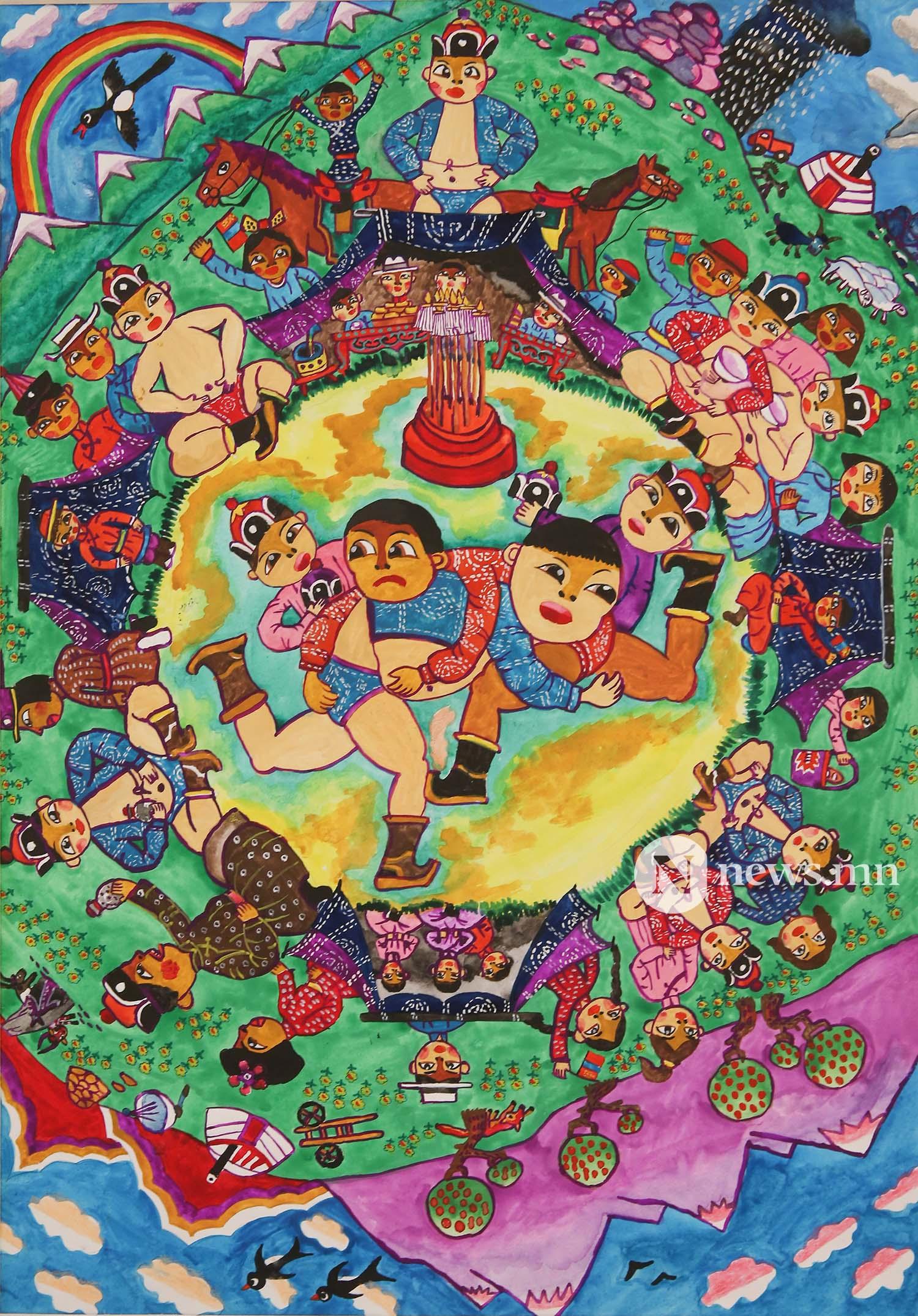Монгол АРТ галерей Хүүхдийн зургийн уралдаан (74)