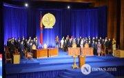 Монгол Улсын Ерөнхийлөгч У.Хүрэлсүхийнтангараг өргөлөө
