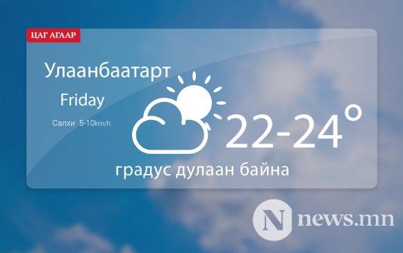 Улаанбаатарт өдөртөө 22-24 градус дулаан байна