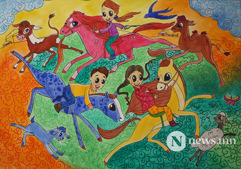 1-р байр Монгол АРТ галерей Хүүхдийн зургийн уралдаан (50)
