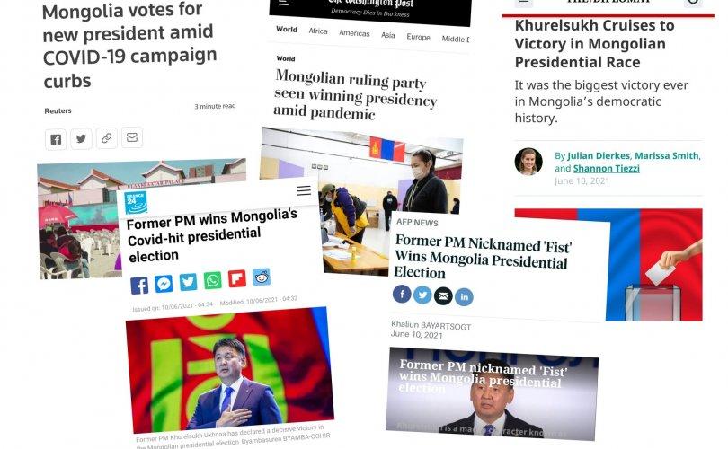 Дэлхийн хэвлэлүүд Монголын сонгуулийг онцлов