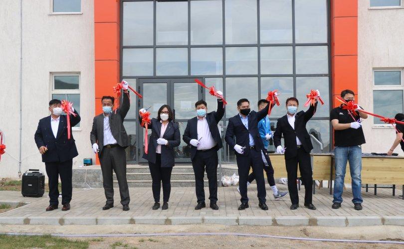 Монголын хөлбөмбөгийн бэлтгэлийн төв нээлтээ хийлээ