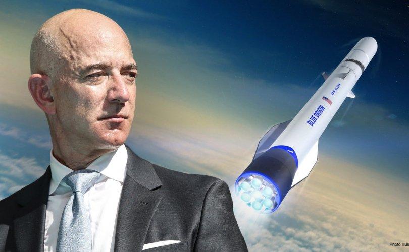 Жефф Безос ирэх сард сансар руу ниснэ