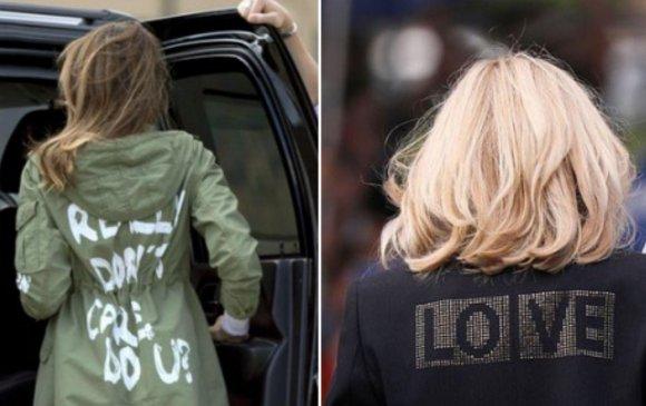 ЖиллБайден,МеланиаТрампнарын хувцас дээрх бичгийг харьцуулжээ