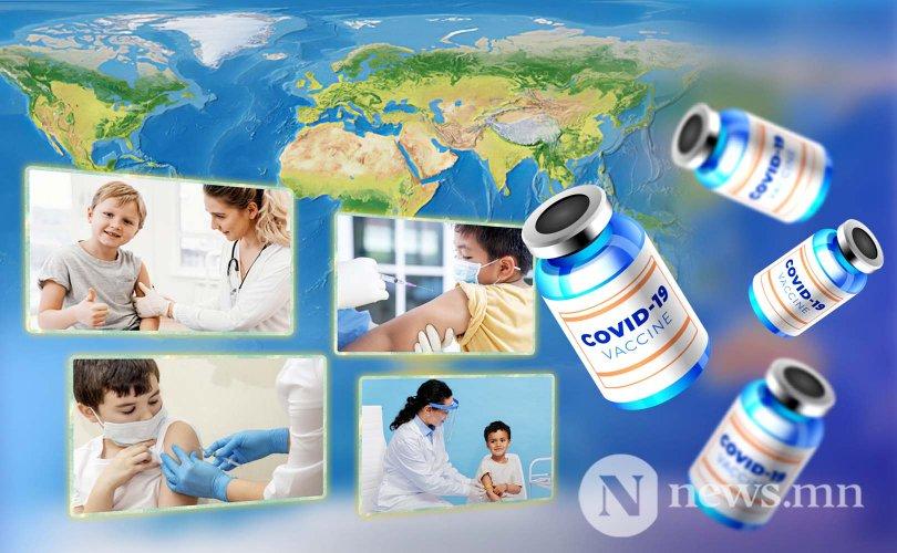Дэлхийн 23 орон хүүхдүүдээ вакцинжуулж байна