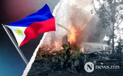 Филиппиний цэргийн онгоц осолдож, 45 хүн нас баржээ