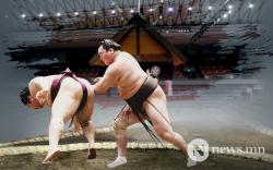Хакүхо, Тэрүнофүжи тэргүүтэй монгол бөхчүүд ялагдаагүй явна