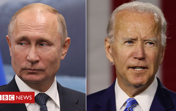 Путин, Байден нар утсаар ярив