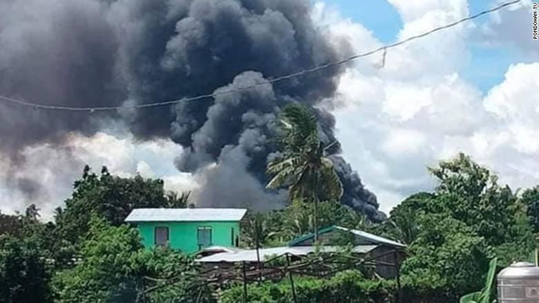 Philippines military plane crash