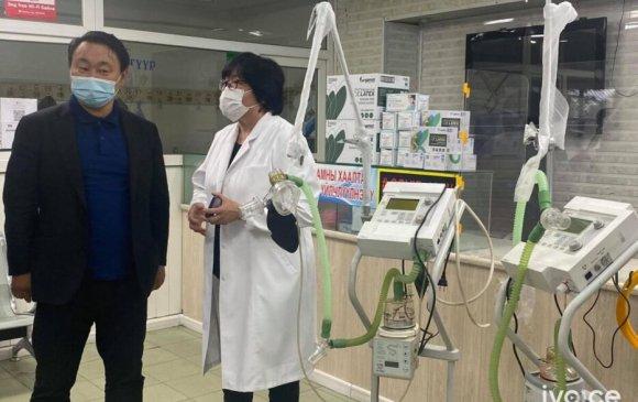 Сүхбаатар дүүргийн Нэгдсэн эмнэлэгт амьсгалын аппарат бэлэглэв
