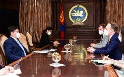 Фридрих-Эбертийн сангийн Монгол Улс дахь суурин төлөөлөгчийг хүлээн авч уулзав