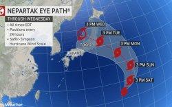 """""""Непартак"""" далайн хар шуурга Токиог чиглэж байна"""