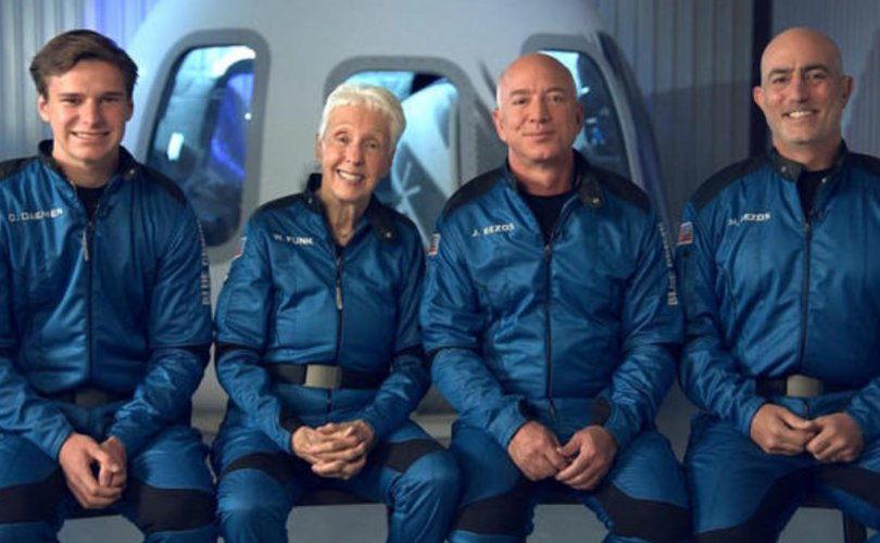 Өнөөдөр Жефф Безос гурван хүний хамт сансарт ниснэ