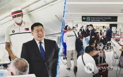 Монголын баг тамирчид Нарита нисэх онгоцны буудалд газардлаа