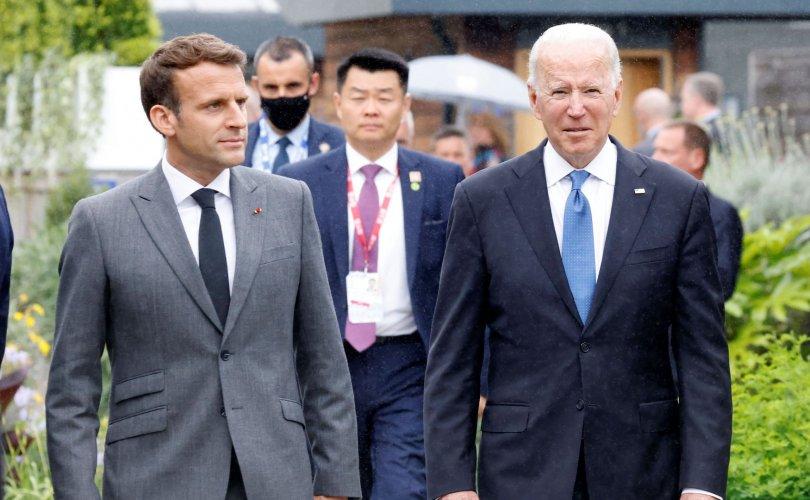 АНУ, Франц хагаралдсанаас хойш Байден анх удаа Макронтой холбогдлоо