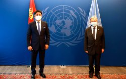 Ерөнхийлөгч У.Хүрэлсүх НҮБ-ын Ерөнхий нарийн бичгийн даргатай уулзав