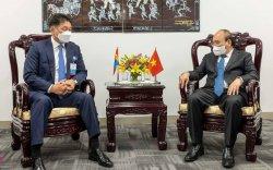 Ерөнхийлөгч У.Хүрэлсүх БНСВУ-ын Ерөнхийлөгчтэй уулзав