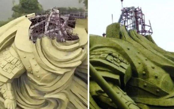 Хятад 26 сая доллараар бүтээсэн хөшөөгөө буулгаж байна